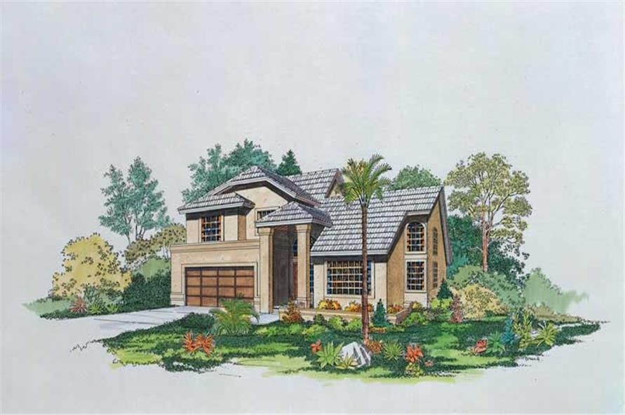 3-Bedroom, 2607 Sq Ft Mediterranean House Plan - 137-1271 - Front Exterior