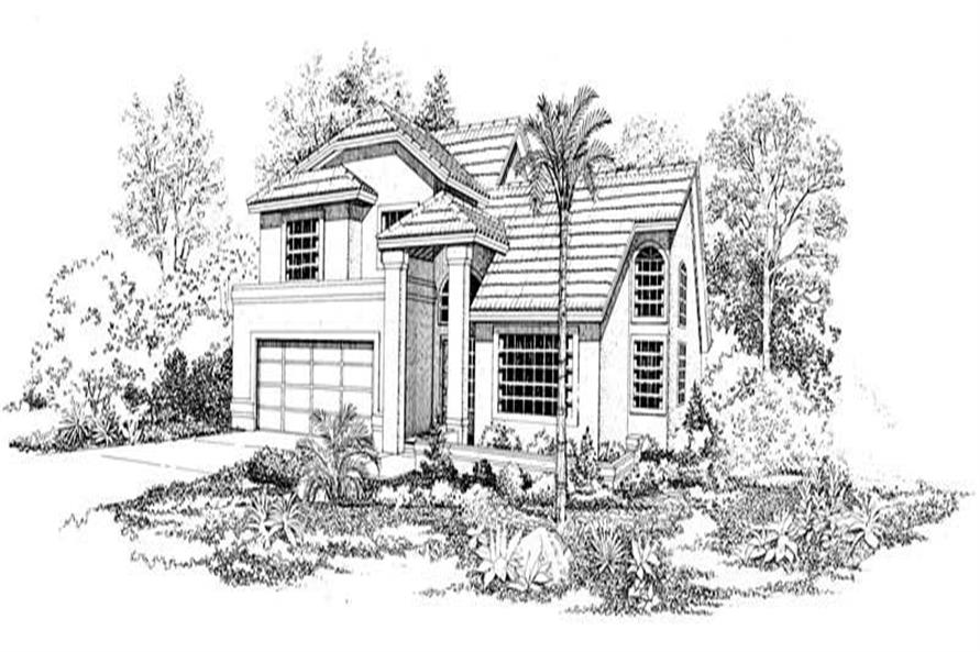 FRONT RENDERING of this 3-Bedroom,2607 Sq Ft Plan -2607