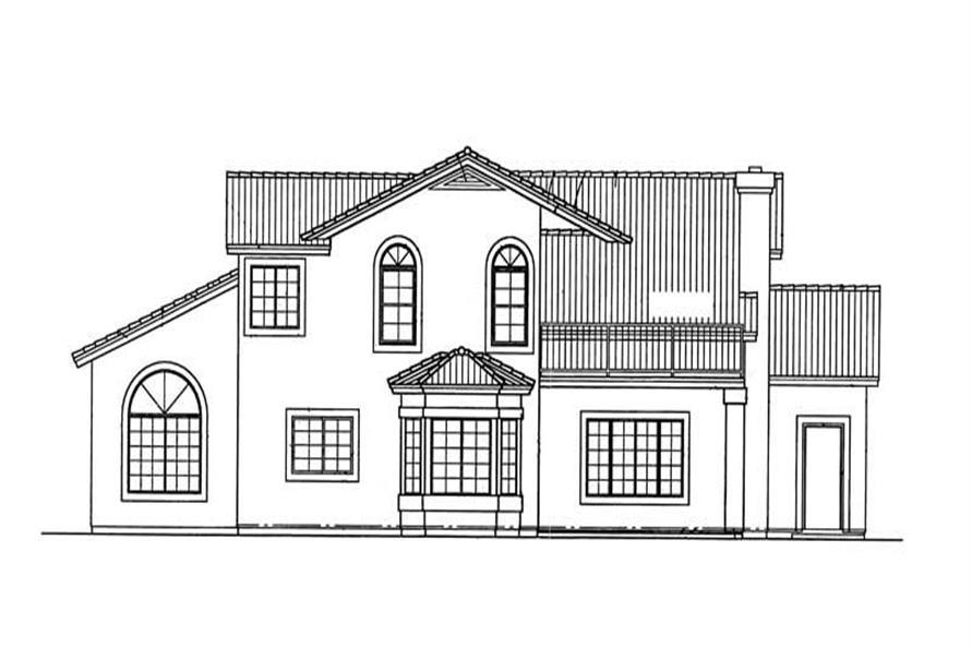 HOUSE PLAN REAR ELEVATION