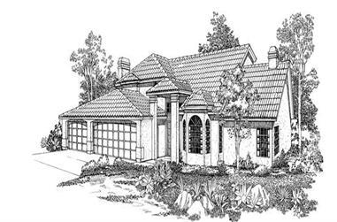 5-Bedroom, 3575 Sq Ft Mediterranean Home Plan - 137-1274 - Main Exterior
