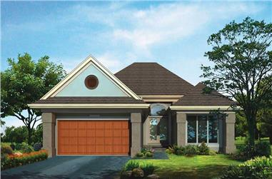 2-Bedroom, 1441 Sq Ft Bungalow House Plan - 137-1275 - Front Exterior