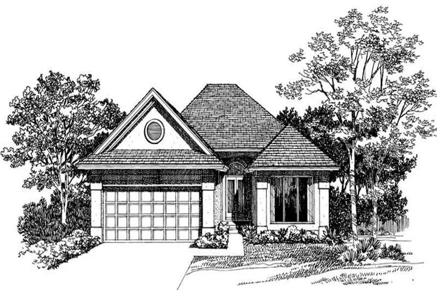 Home Plan Rendering of this 2-Bedroom,1441 Sq Ft Plan -137-1275
