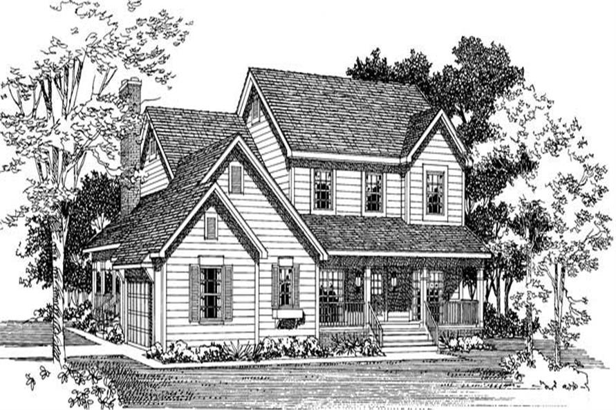 Home Plan Right Elevation of this 4-Bedroom,2190 Sq Ft Plan -137-1277