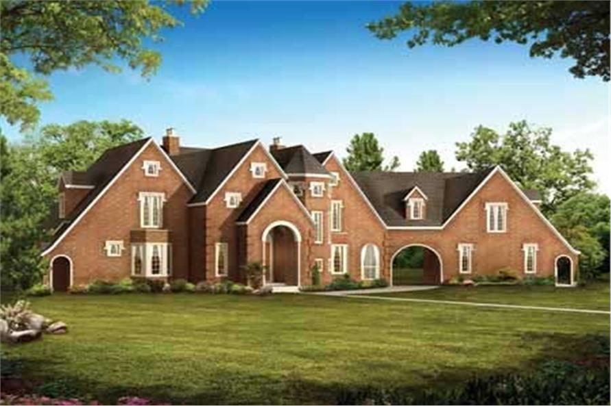 5-Bedroom, 2403 Sq Ft European House Plan - 137-1278 - Front Exterior