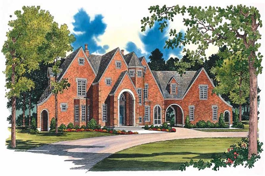 Home Plan Front Elevation of this 5-Bedroom,2403 Sq Ft Plan -137-1278