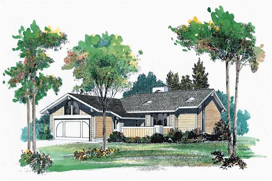 3-Bedroom, 1387 Sq Ft Contemporary Home Plan - 137-1279 - Main Exterior