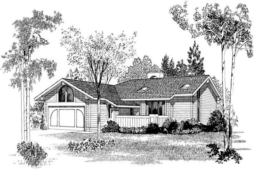FRONT RENDERING of this 3-Bedroom,1387 Sq Ft Plan -1387