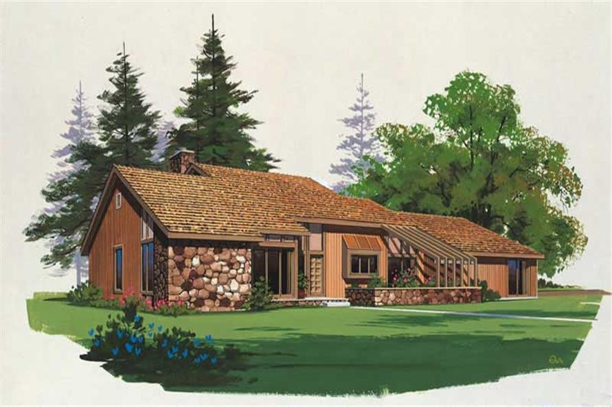 3-Bedroom, 1824 Sq Ft Contemporary Home Plan - 137-1281 - Main Exterior
