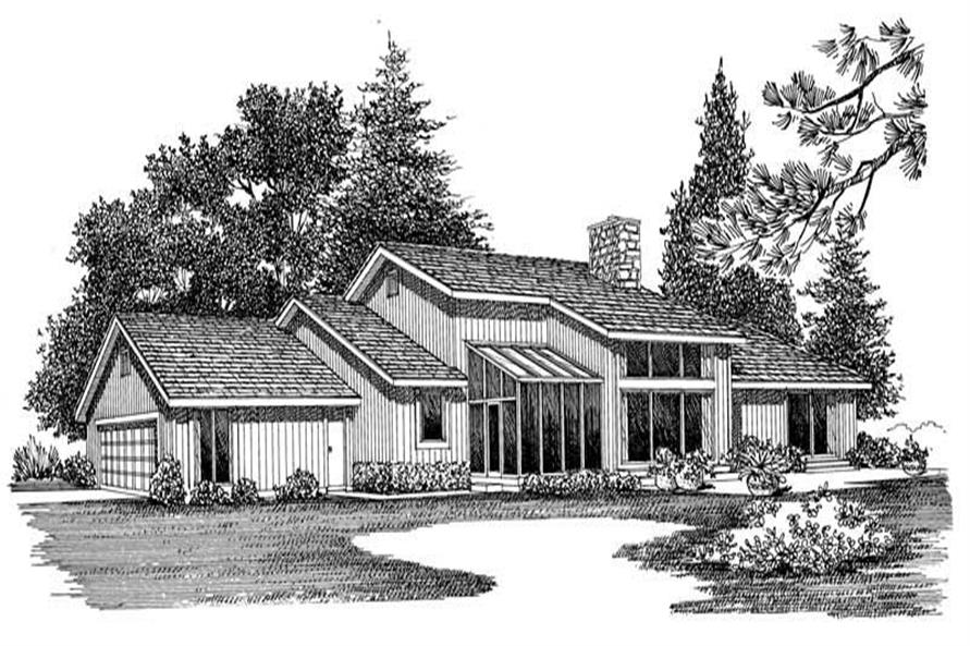 SIDING FRONT RENDERING of this 3-Bedroom,1824 Sq Ft Plan -1824