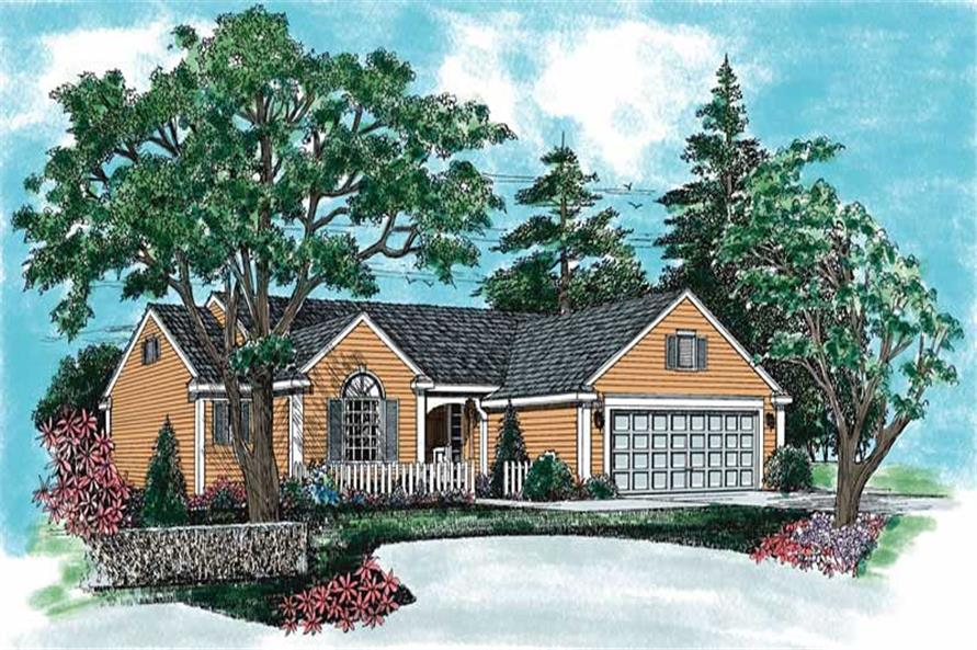 Country home (ThePlanCollection: Plan #137-1282)