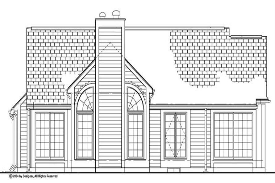 Home Plan Rear Elevation of this 3-Bedroom,1530 Sq Ft Plan -137-1282