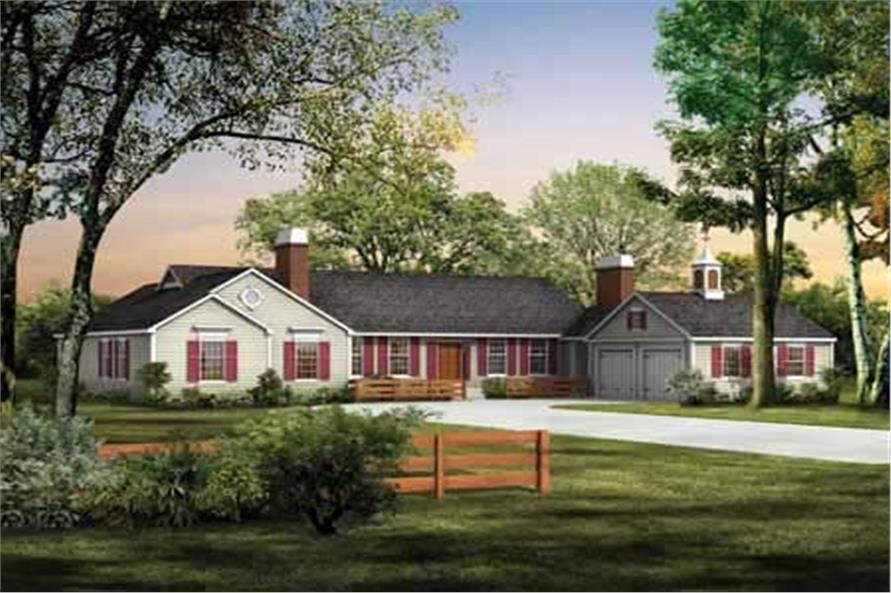 4-Bedroom, 3018 Sq Ft Ranch Home Plan - 137-1285 - Main Exterior