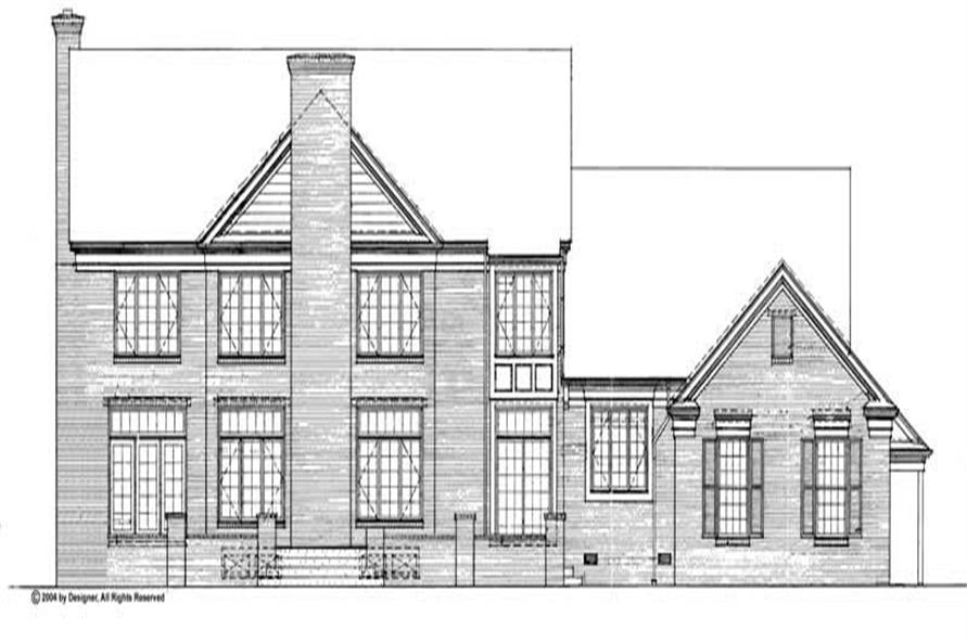 Home Plan Rear Elevation of this 4-Bedroom,4220 Sq Ft Plan -137-1286
