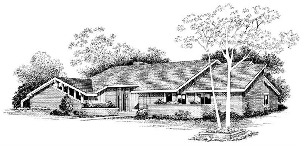 Contemporary home (ThePlanCollection: Plan #137-1287)