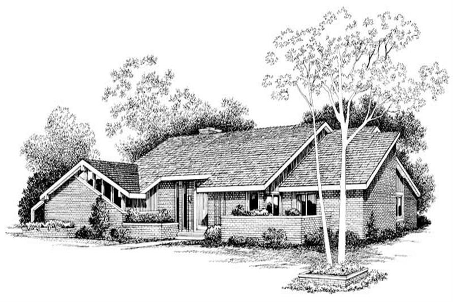 4-Bedroom, 3777 Sq Ft Contemporary House Plan - 137-1287 - Front Exterior