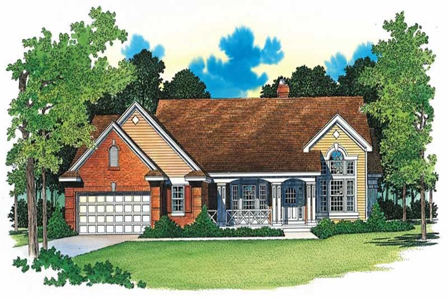 2-Bedroom, 2258 Sq Ft Country Home Plan - 137-1289 - Main Exterior