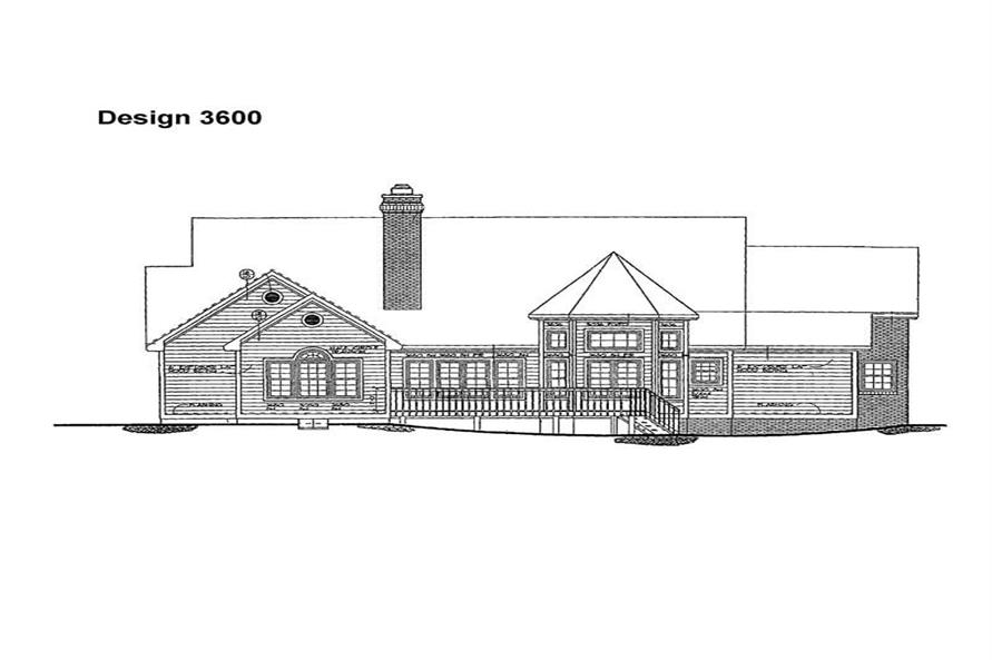 Home Plan Rear Elevation of this 2-Bedroom,2258 Sq Ft Plan -137-1289