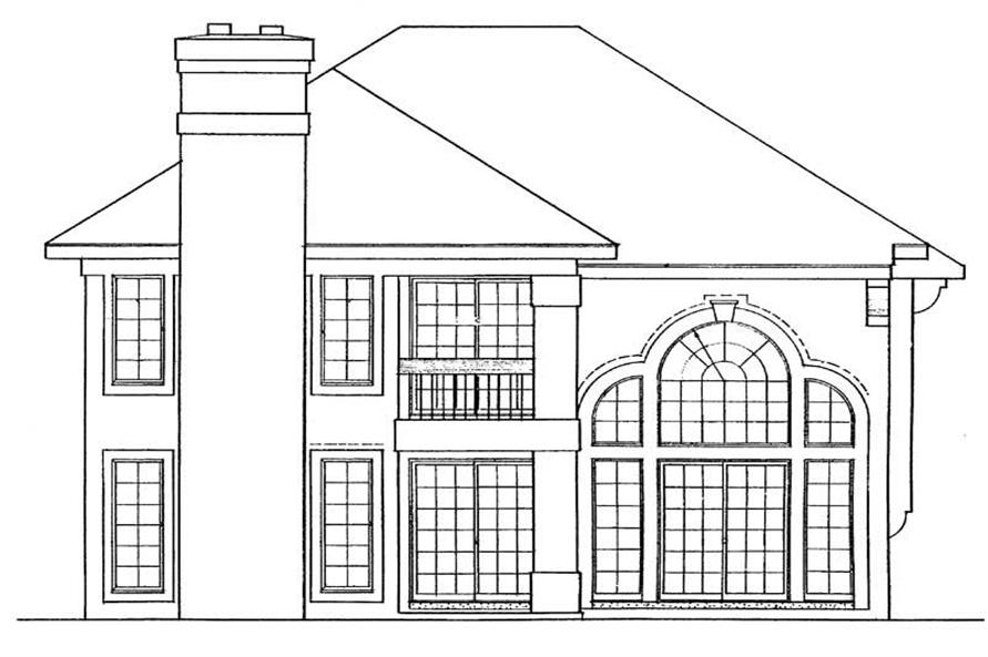 Home Plan Rear Elevation of this 3-Bedroom,2240 Sq Ft Plan -137-1290