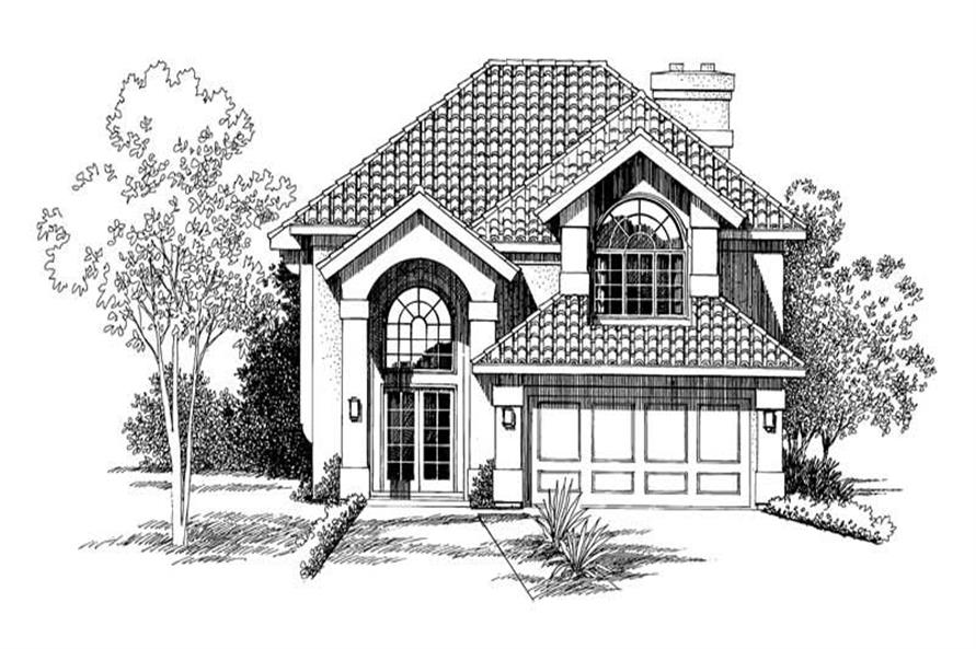Home Plan Rendering of this 3-Bedroom,2240 Sq Ft Plan -137-1290