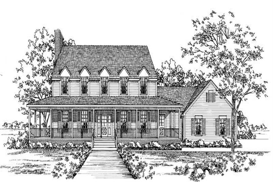 Home Plan Rendering of this 3-Bedroom,2821 Sq Ft Plan -137-1291