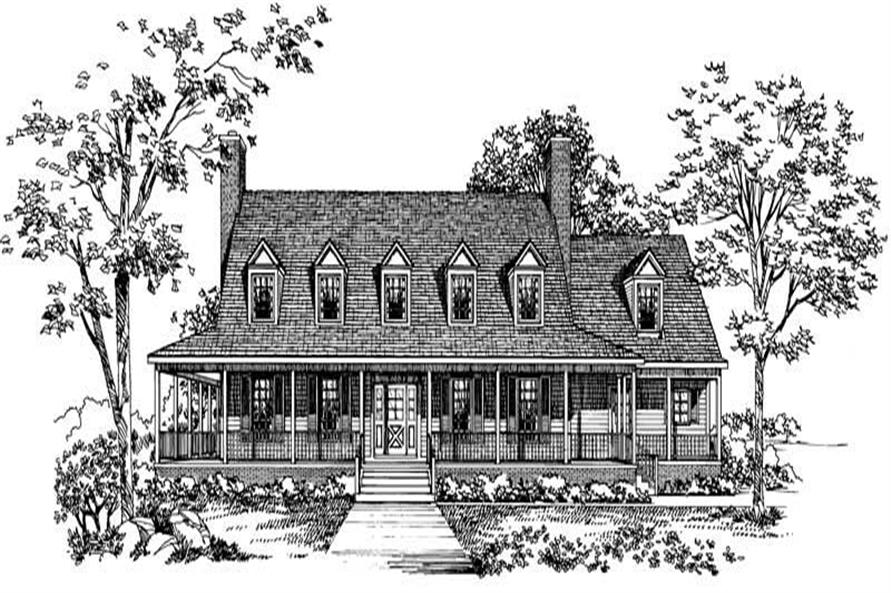 FRONT RENDERING of this 4-Bedroom,3818 Sq Ft Plan -3818