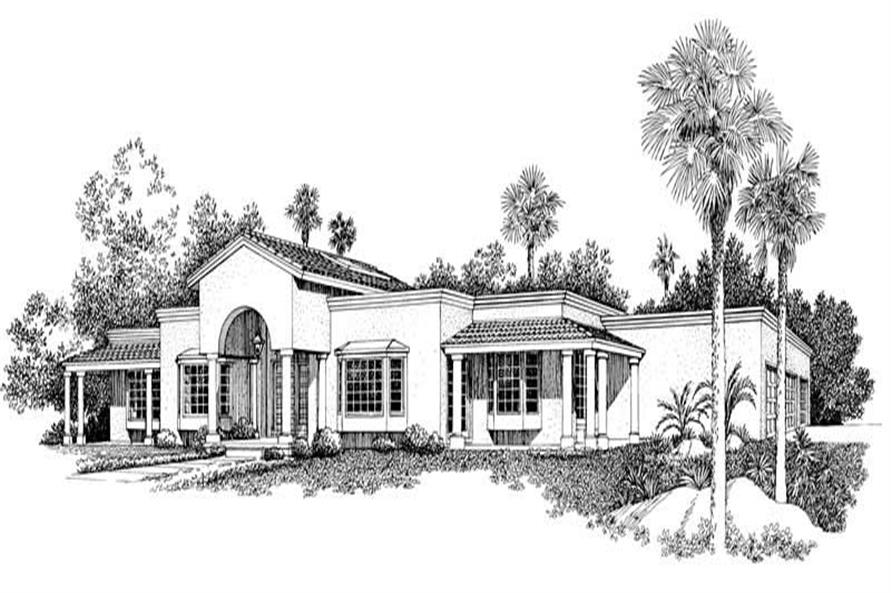 Home Plan Rendering of this 3-Bedroom,2784 Sq Ft Plan -137-1306