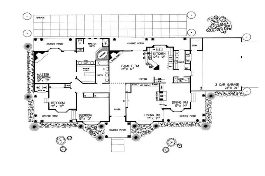UPPER PORCH of this 3-Bedroom,2784 Sq Ft Plan -2784