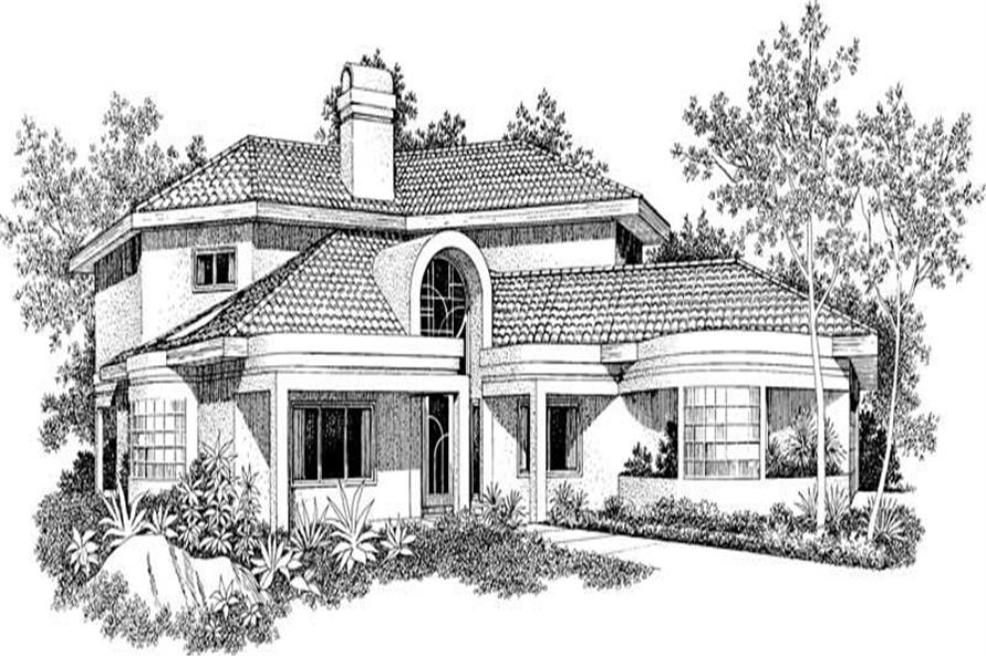 Home Plan Rendering of this 4-Bedroom,2768 Sq Ft Plan -137-1308