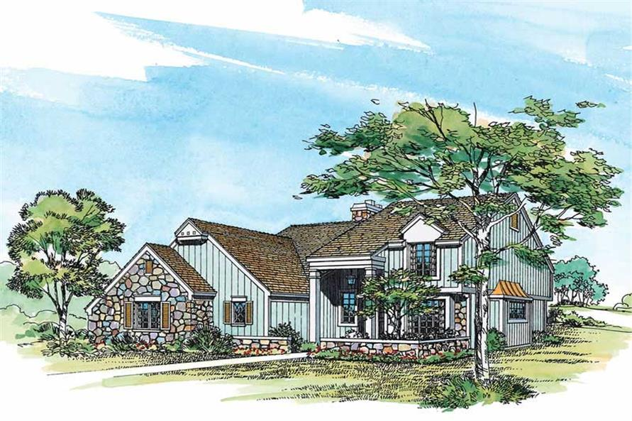 3-Bedroom, 1993 Sq Ft Country Home Plan - 137-1313 - Main Exterior