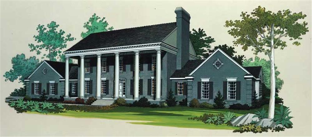 Colonial home (ThePlanCollection: Plan #137-1314)