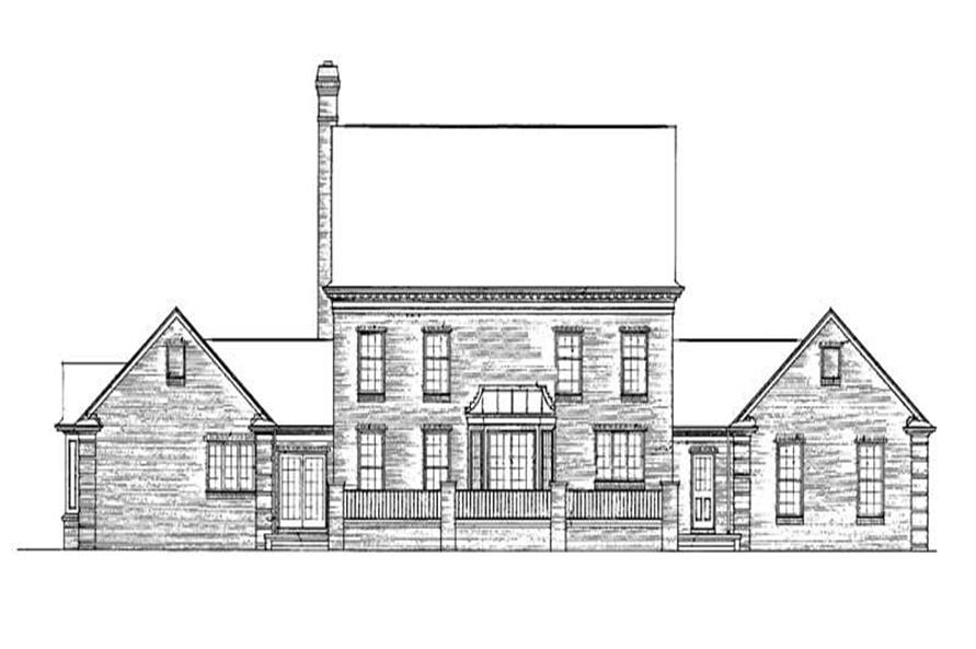 Home Plan Rear Elevation of this 5-Bedroom,4059 Sq Ft Plan -137-1314