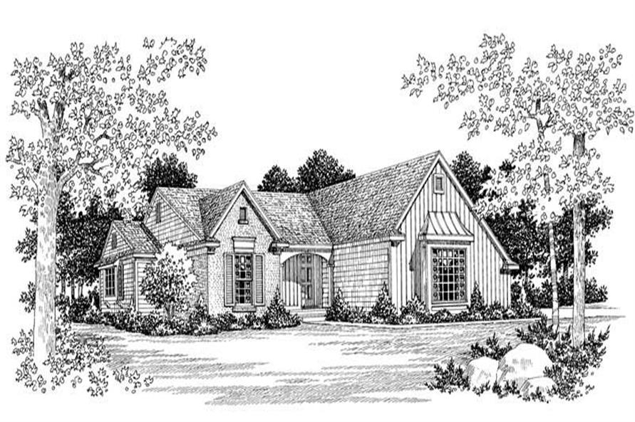 2-Bedroom, 1233 Sq Ft Country House Plan - 137-1315 - Front Exterior