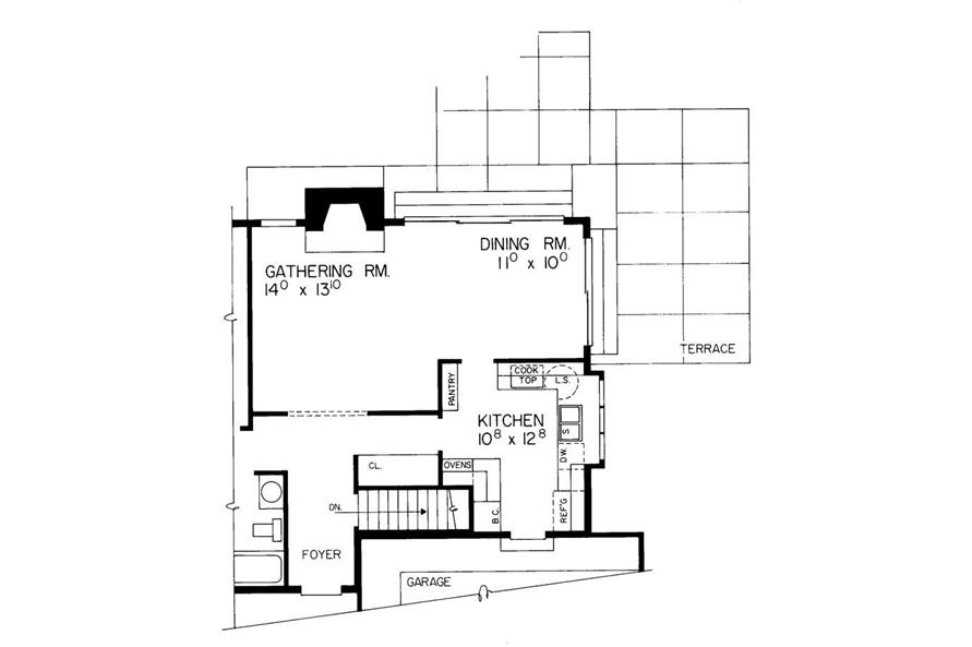 KITCHEN OPTION of this 2-Bedroom,1233 Sq Ft Plan -1233