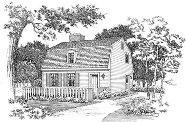 2-Bedroom, 1428 Sq Ft Colonial House Plan - 137-1316 - Front Exterior