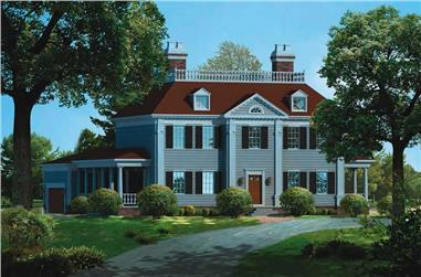 3-Bedroom, 3505 Sq Ft Colonial House Plan - 137-1317 - Front Exterior