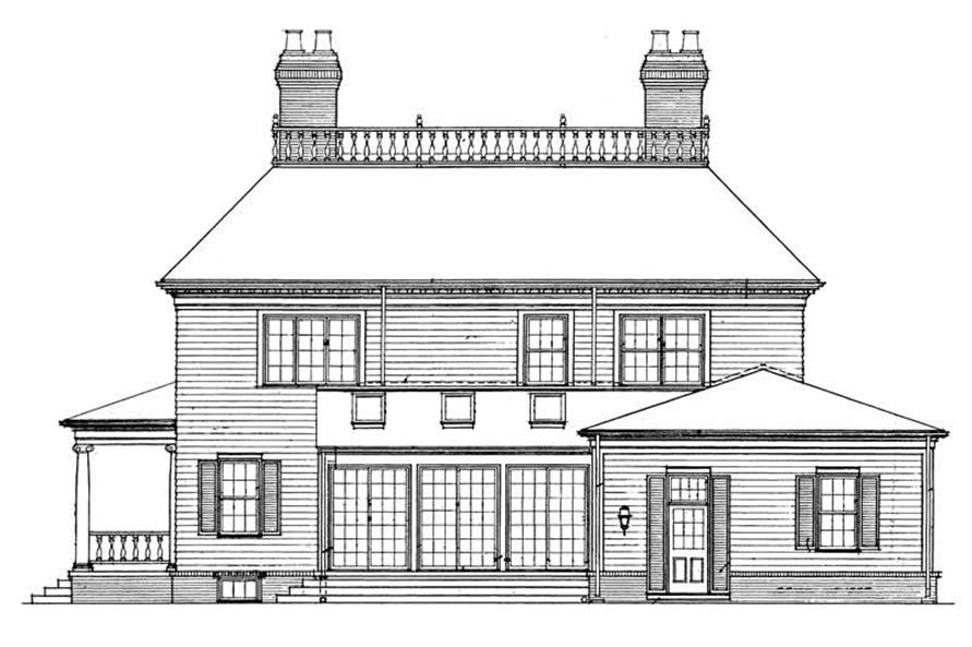 Home Plan Rear Elevation of this 3-Bedroom,3505 Sq Ft Plan -137-1317