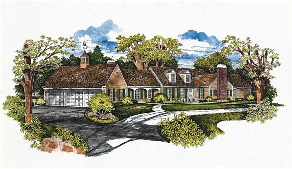 Ranch home (ThePlanCollection: Plan #137-1319)