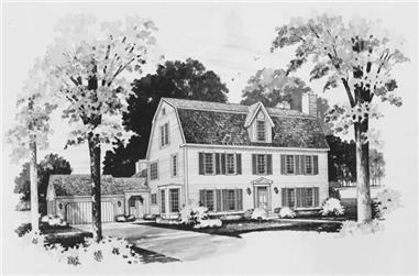 3-Bedroom, 3775 Sq Ft Colonial Home Plan - 137-1321 - Main Exterior