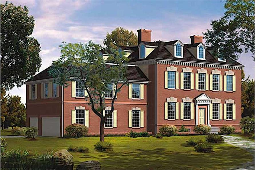 5-Bedroom, 4679 Sq Ft Colonial Home Plan - 137-1322 - Main Exterior