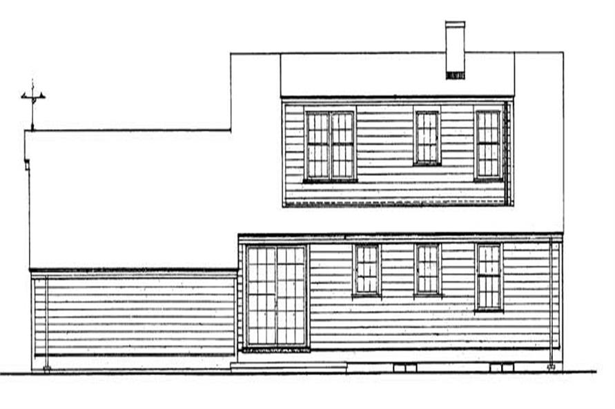 Home Plan Rear Elevation of this 4-Bedroom,1482 Sq Ft Plan -137-1323