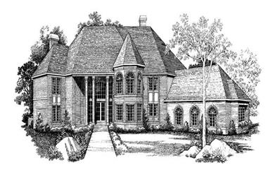 5-Bedroom, 6814 Sq Ft European House Plan - 137-1325 - Front Exterior
