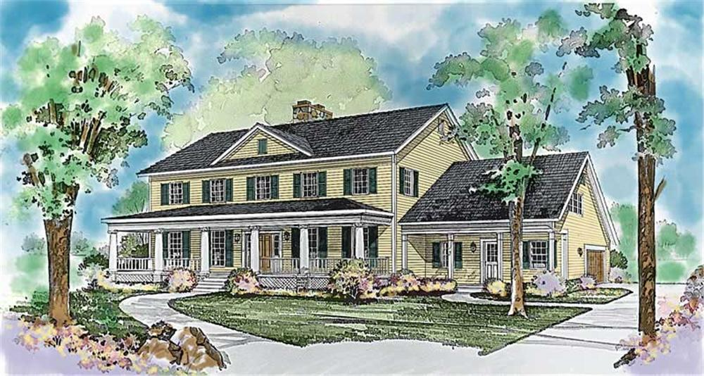 Colonial home (ThePlanCollection: Plan #137-1326)