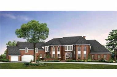 4-Bedroom, 5649 Sq Ft European Home Plan - 137-1327 - Main Exterior