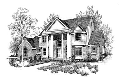 5-Bedroom, 3569 Sq Ft Colonial House Plan - 137-1331 - Front Exterior