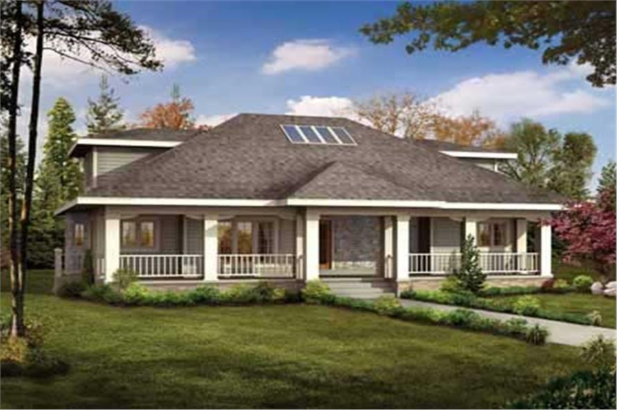 3-Bedroom, 2208 Sq Ft Ranch House Plan - 137-1332 - Front Exterior