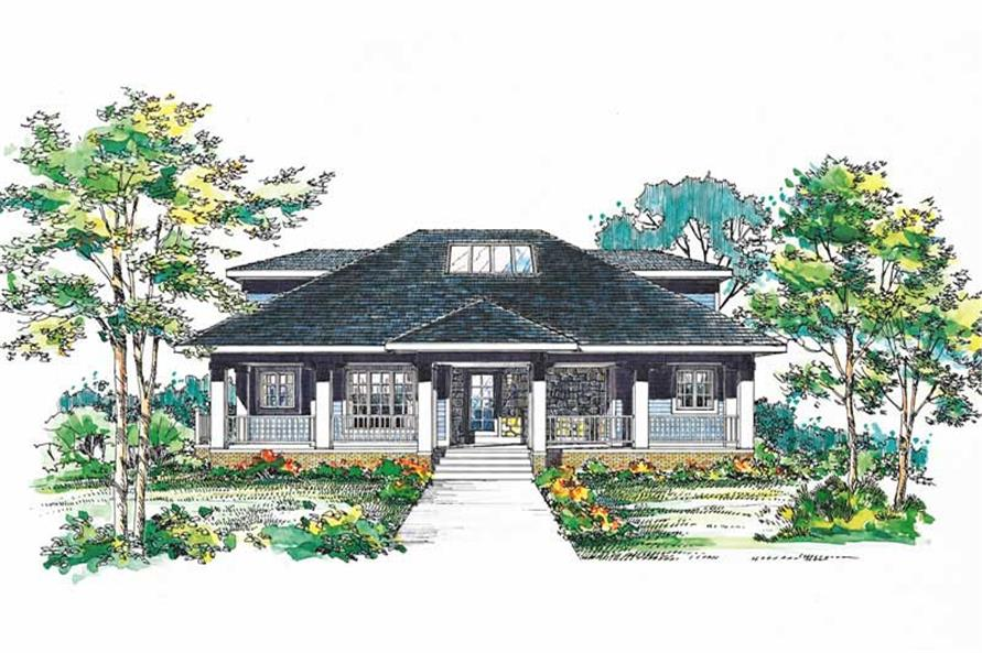 Home Plan Front Elevation of this 3-Bedroom,2208 Sq Ft Plan -137-1332