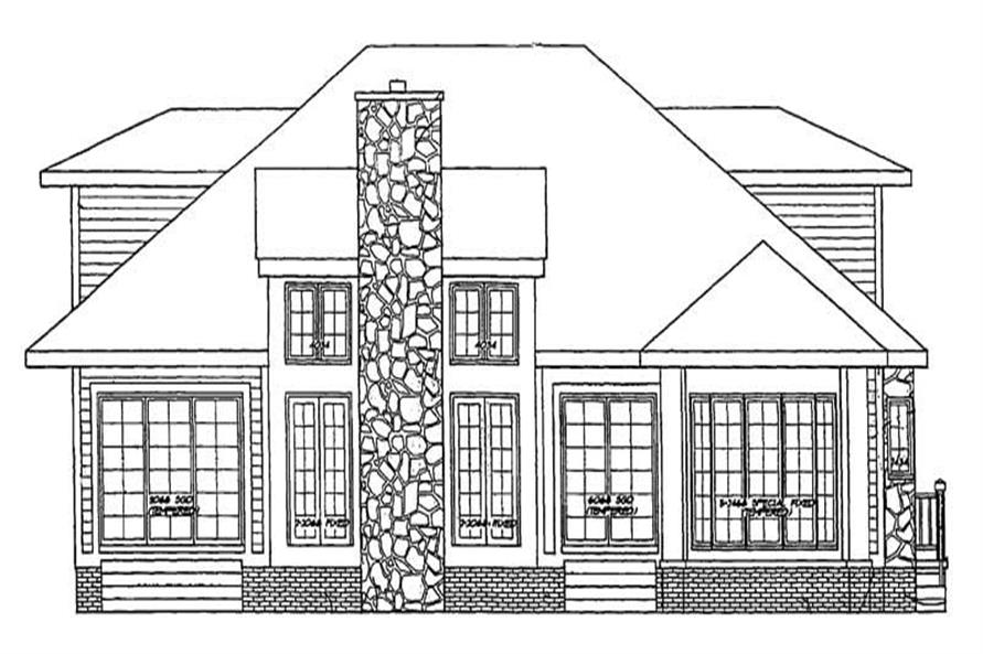 Home Plan Rear Elevation of this 3-Bedroom,2208 Sq Ft Plan -137-1332