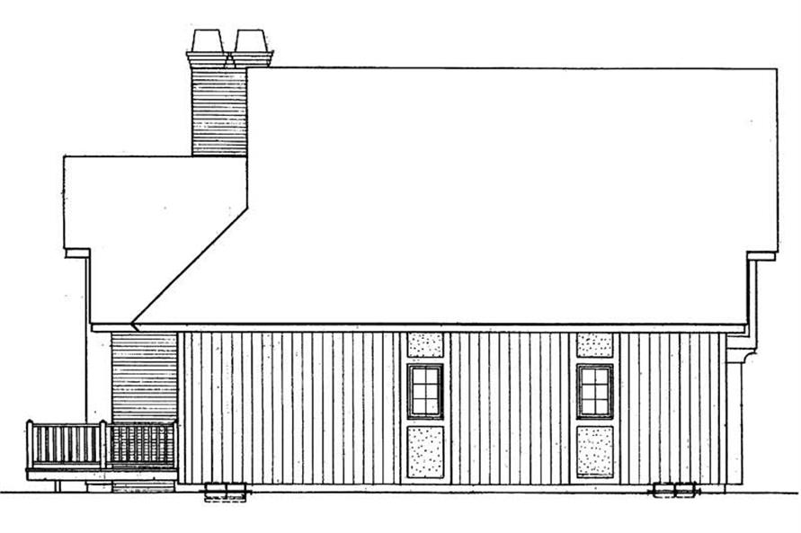 Home Plan Rear Elevation of this 3-Bedroom,1805 Sq Ft Plan -137-1334