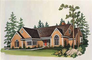 4-Bedroom, 3024 Sq Ft Country Home Plan - 137-1335 - Main Exterior