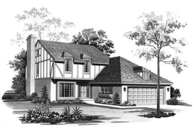 3-Bedroom, 2059 Sq Ft European Home Plan - 137-1337 - Main Exterior